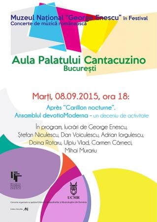 """Après """"Carillon nocturne"""".  Ansamblul devotioModerna - un deceniu de activitate"""