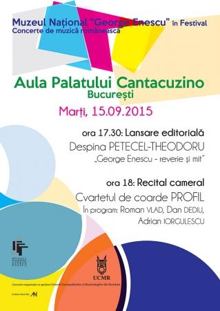 Lansare editorială și RECITAL CAMERAL - Cvartetul de coarde PROFIL