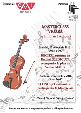 Masterclass de Vioară cu Emilian Piedicuță