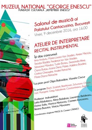 Atelier de interpretare - Recital instrumental