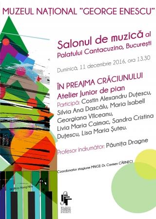 În preajma Crăciunului - Atelier Junior de pian