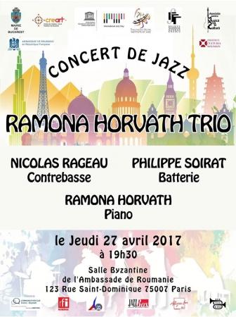 """Concert de jazz """"RAMONA HORVATH & FRIENDS"""" cu ocazia Zilei Internaționale a Jazzului 2017"""