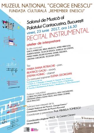 Recital instrumental - atelier de interpretare