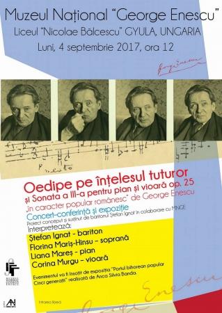 """""""Oedipe pe înțelesul tuturor"""", concert–conferință și expoziție"""""""