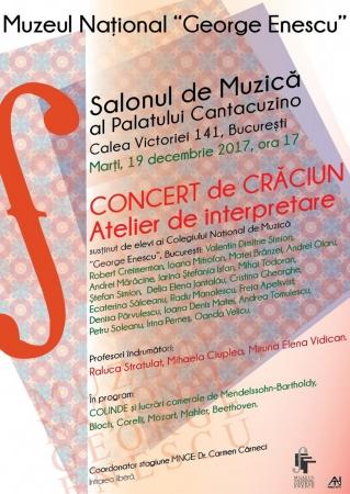 Concert de Craciun. Atelier de interpretare