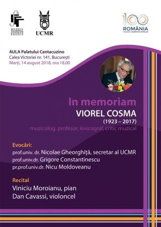 In memoriam Viorel Cosma