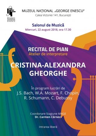 Recital de pian CRISTINA-ALEXANDRA GHEORGHE