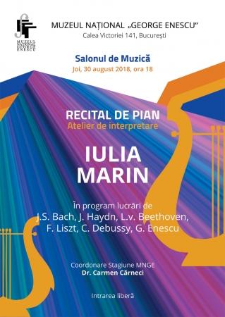 Recital de pian IULIA MARIN