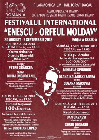 """Festivalul """"Enescu – Orfeul Moldav"""", ediţia 39"""