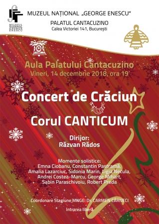 Concert de Crăciun susținut de Grupul Canticum