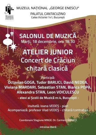 Concert de Crăciun chitară clasică - Atelier junior