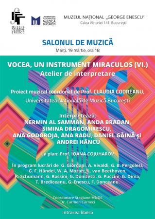 Vocea, un instrument miraculos (VI.)
