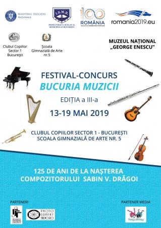 """Festival-Concurs """"BUCURIA MUZICII"""", Ediția a III-a"""
