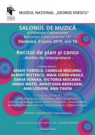 Recital de pian și canto/ Atelier de interpretare