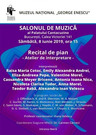 Recital de pian / Atelier de interpretare