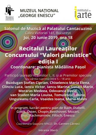 """Concertul de gală al laureaților Concursului Internațional """"Valori pianistice"""", ediția I"""