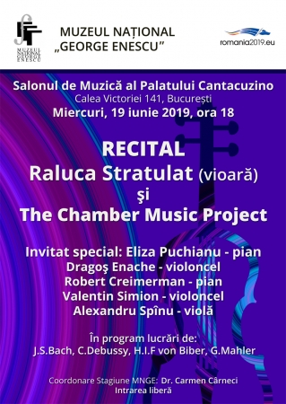 Recital Raluca Stratulat (vioară) și The Chamber Music Project