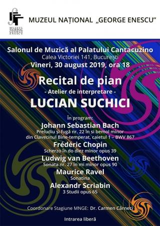 Recital de pian Lucian Suchici