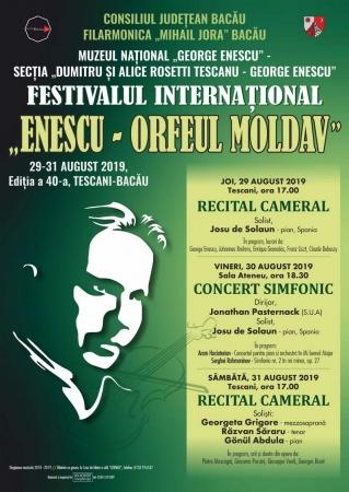 """Festivalul internaţional """"Enescu – Orfeul moldav"""" / Recital cameral"""
