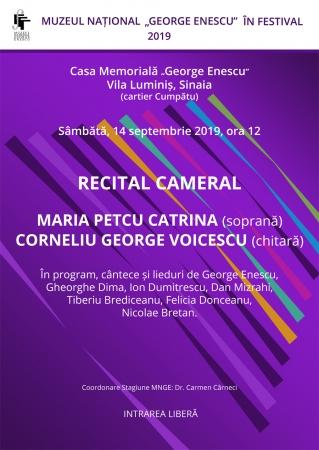 Recital cameral Maria Petcu-Catrina și Corneliu George Voicescu