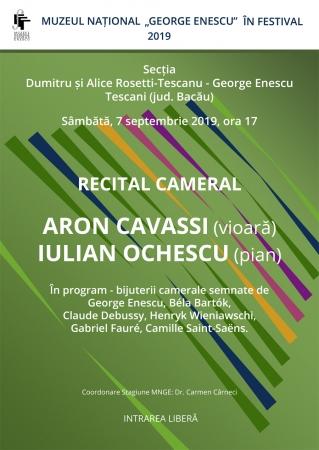 Recital cameral Aron Cavassi și Iulian Ochescu