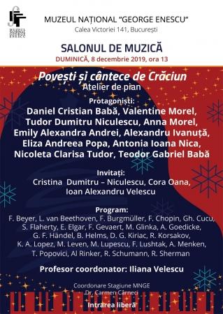 Povești și cântece de Crăciun - Atelier de pian