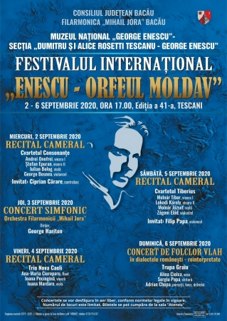 """Festivalul internaţional """"Enescu – Orfeul moldav"""""""