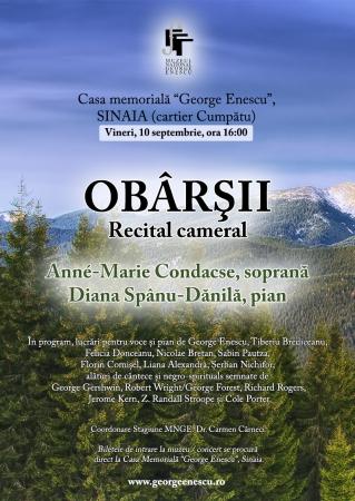 OBÂRŞII / Recital cameral