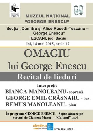 OMAGIU lui George Enescu (Recital de lieduri)
