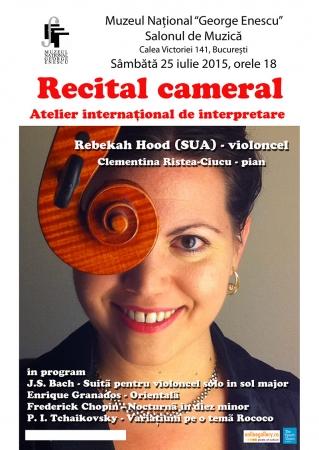 Recital cameral Rebekah Hood si Clementina Ristea-Ciucu