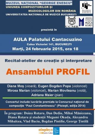 Recital-atelier de creație și interpretare - Ansamblul PROFIL